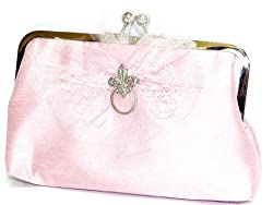 Plumes and Pearls Womens Pretty Woman Clutch (Pink)