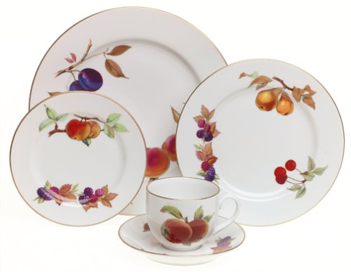 Royal Worcester Evesham Gold Porcelain 5-Piece Dinnerware Place Setting, Service for 1