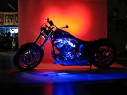 Yellow LED Neon Motorcycle Lighting Kit