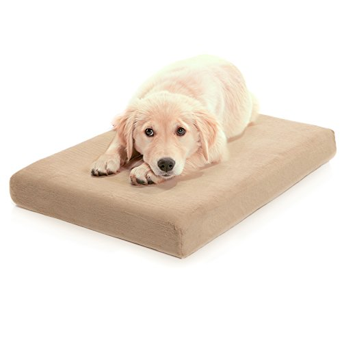 Milliard Premium Orthopedic Memory Foam Dog Bed with Anti-Microbial Removable Waterproof Washable Non-Slip Cover - Large - 40 in. x 35 in. x 4 in.