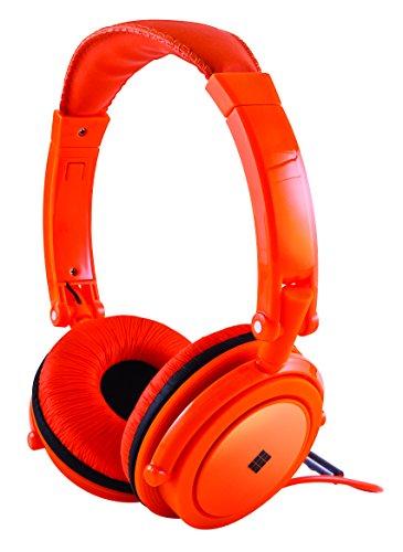 Polaroid Php8360Or Powerful Bass Jumbo Padding Neon Headphones With Noise Isolation, Orange