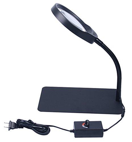 Signstek 36 Led White Light 8X Desk Lamp Magnifier With Magnetic Base