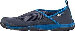 Helly Hansen Men\'s Watermoc 2 Water Shoe, Charcoal/Racer Blue/E, 10 M US