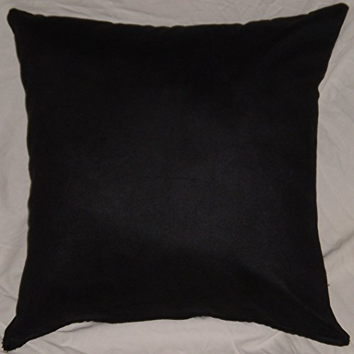 Black Microfiber Throw Pillows : Microfiber Sheared Velvet Twill, 18