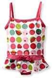 Pink Platinum Baby-Girls Infant Fruit Dots Swim Suit