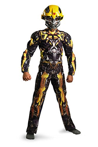 [Mememall Fashion Transformers Bumblebee Classic Muscle Child Halloween Costume] (Plus Size Deluxe Bumblebee Costumes)
