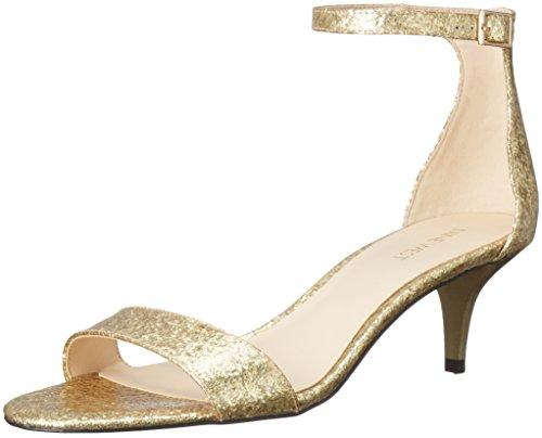 Nine West Women's Leisa Patent Dress Pump, Light Gold Glass, 8 M US