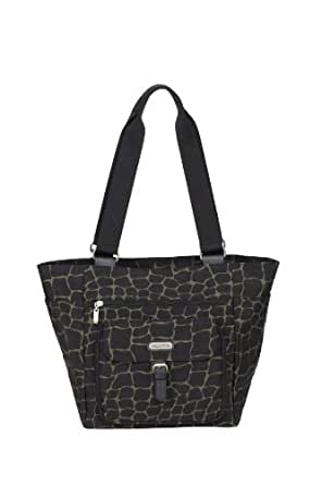 Baggallini Town Tote -Giraffe Printed,Giraffe Print with Silver Hardware,One Size