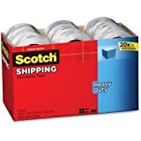 Scotch Heavy Duty Shipping Packaging Tape, 1.88 Inches x 54.6 Yards, 18-Rolls (3850-18CP)