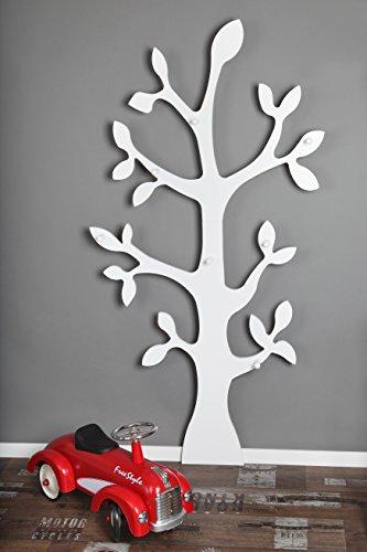 Wandgarderobe »Baum« Garderobe, Wanddeko, (weiß, 170cm)