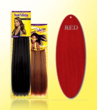 Beauti-Collection-Human-Hair-Weave-Yaki-Weave-08-Red-Size-08