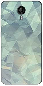 Snoogg Paper Shapes Designer Protective Back Case Cover For Micromax Canvas Nitro 3 E455