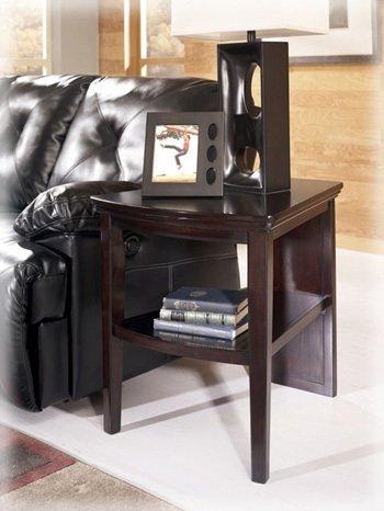 Wedge End Table by Ashley - Dark Wood (T851-6)