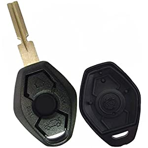 Discount Keyless Replacement 3 Button Keyshell Compatible With Bmw Remotes Lx8fzv by Discount Keyless