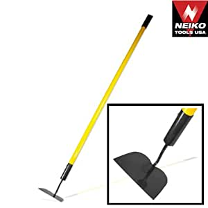 Neiko tools usa hoe with fiberglass long for Gardening tools on amazon