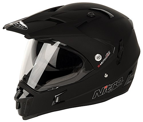187142 - Nitro MX650 DVS Motorcycle Helmet M Satin Black (02)