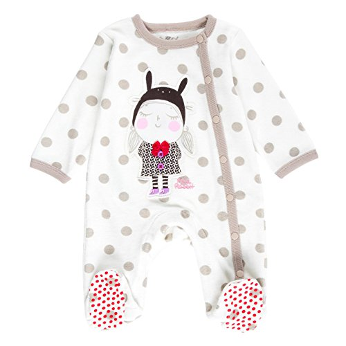 Boboli Velour Play Suit For Baby, Body Bimbo, Beige (Print 9294), 6 mesi