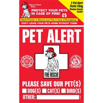 PET SAFETY ALERT 234001 2-Count Static Cling Window Decal for Pets (Fire Dept Window Decal compare prices)