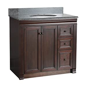 Foremost Shea3621dr Shawna 36 Inch Bath Vanity With Right Side Drawers Vanity Sinks
