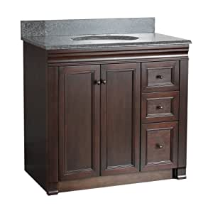 foremost shea3621dr shawna 36 inch bath vanity with right side drawers vanity sinks. Black Bedroom Furniture Sets. Home Design Ideas