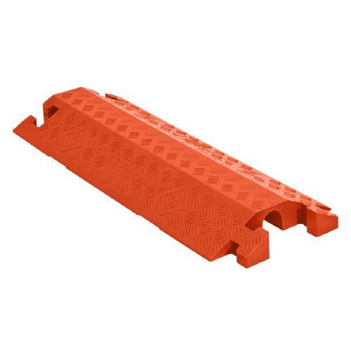 Linebacker CP1X225-GP-DO-O Polyurethane Heavy Duty General Purpose 1 Channel Drop Over Cable Protector with 2.25