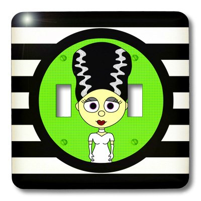 lsp_10770_2 Janna Salak Designs Halloween - Cute Bride of Frankenstein - Light Switch Covers - double toggle (Cute Halloween Pic)