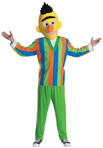 Disguise Mens Street Cartoon Character Retro Bert Sesame Theme Party Costume