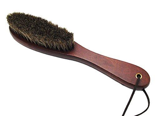 RISACCA 馬毛 ブラシ 洋服  靴 バッグ 革 手入れ 掃除 ほこり 汚れ 花粉 除去 天然素材 (衣類)