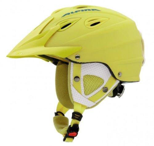 Skihelm Alpina GRAP CROSS A9057 Modell 2013 NEW, Farbe:gelb matt;Größe:54-57