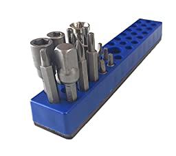 Olsa Tools | Hex Bit Organizer with Strong Magnetic Base | Premium Quality Hex Bit Holder | 100% Satisfaction Guaranteed (Blue)