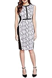 Speziale Petite Faux Snakeskin Jacquard Shift Dress [T62-6047H-S]