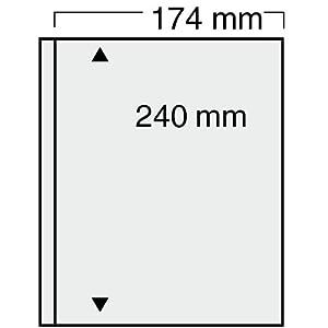 10x SAFE 7871 Compact Spezialblätter Einsteckblätter Sammelblätter transparent mit 1 Tasche a 174 x 240 mm Ideal für Banknoten & Blocks & Eintrittskarten Briefe