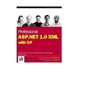 Professional ASP.NET 1.0 XML with C# Chris Knowles, Darshan Singh, Michael Palermo, Pieter Siegers, Steve Mohr