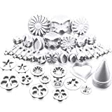 Krühlstein® 30 pieces cake/cookie decorating sugarcraft cutters & plungers - flower leaf shapes