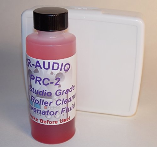 (1) New SR-Audio PRC-2 Studio Grade Audio/Video Tape Deck Pinch Roller Cleaner Conditioner Rejuvenator, for all Cassette,Reel to Reel Decks,Tape Echos,PrintersTurntable Idlers,Projectors+Gently Cleans & Conditions Rubber Safely