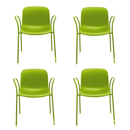 troy-armchair-outdoor-set-of-4-with-seat-pads-green-frame-green-4-felt-seat-pads-for-free-4-chairs