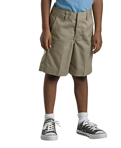 Dickies Big Boys' Flat Front Short School Uniform 16 Khaki