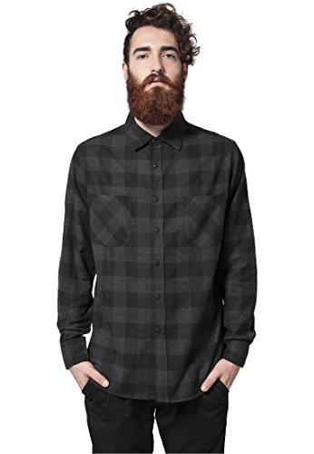 Urban Classics Checked Flanell Shirt Camicia nero/grigio M