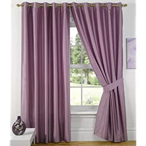 Best Price Heather Lilac Eyelet Ringtop Curtains Charisma