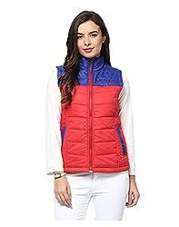 Yepme Carice Sleeveless Jacket - Red & Blue -- YPMJACKT5066_XS