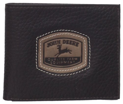 john-deere-mens-leather-passcase-billfold-wallet-with-embossed-patch-brown