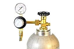 Taprite Primary Keg Draft Beer Regulator Brass W/Pressure (Single Gauge E-T741)