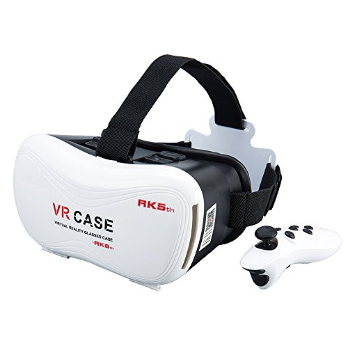 """LIKEE VR Headset VR Glasses Virtual Reality 3D Games Glasses VR Box With Second Generation Bluetooth Controller for iPhone 7/6s/6 plus/6/5s/5c/5 Samsung Galaxy s5/s6/note4/note5 and Other 4.7""""-6.0"""""""