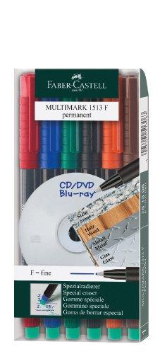 faber-castell-152483-pack-de-6-marcadores-permanentes