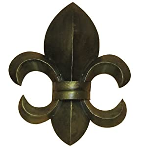 Home Wall Decor on Amazon Com   Ll Home Metal Fleur De Lis Wall Decor