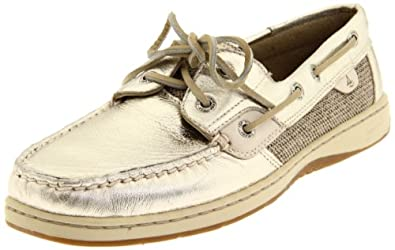 Sperry Top-Sider Women's Bluefish Gold Loafer,Platinum,10 M US