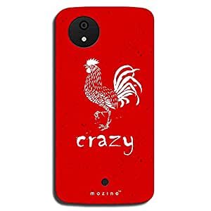 Mozine Crazy Hen Printed Mobile Back Cover For Micromax Android 1