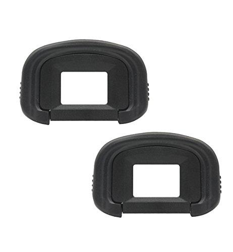 CEARI [2 Pack] EG Rubber Eyecup Eyepiece Viewfinder for Canon EOS 1DX, 1Ds Mark III, 1D Mark IV, 1D Mark III, 5D Mark III, 7D DSLR Camera + MicroFiber Clean Cloth