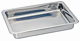 Kitchen Supply Stainless Steel Cake/Lasagna Pan 13-inch by 9-inch