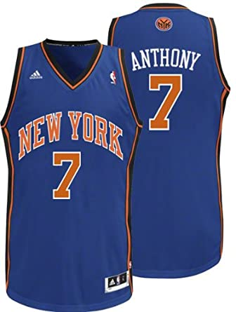NBA New York Knicks Carmelo Anthony Swingman Jersey, Blue Mens by adidas